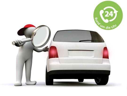 Schlüsseldienst öffnet Auto