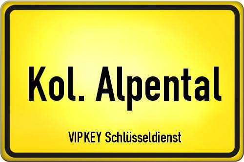 Ortseingangsschild Berlin - Kol. Alpental