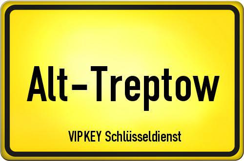Ortseingangsschild Berlin - Alt-Treptow