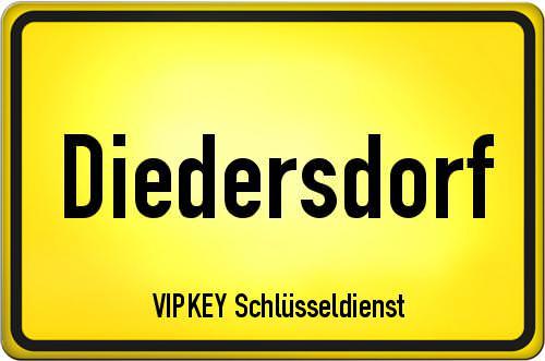 Ortseingangsschild Brandenburg - Diedersdorf