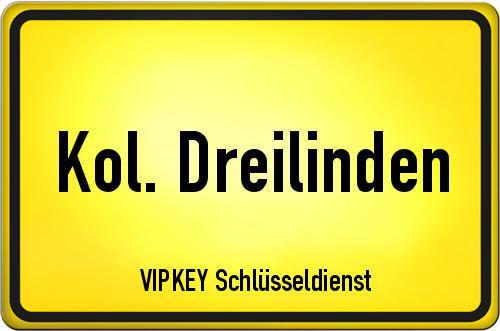 Ortseingangsschild Berlin - Kol. Dreilinden