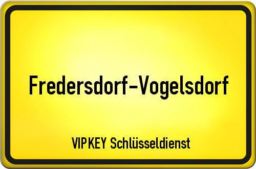 Ortseingangsschild Brandenburg - Fredersdorf-Vogelsdorf