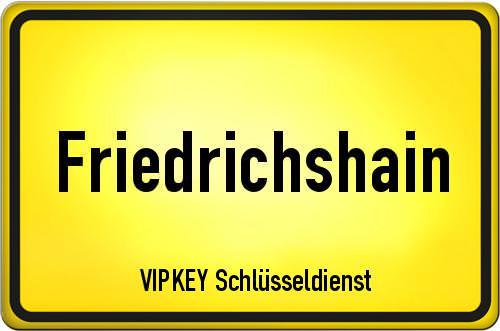 Ortseingangsschild Berlin - Friedrichshain
