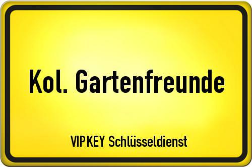 Ortseingangsschild Berlin - Kol. Gartenfreunde