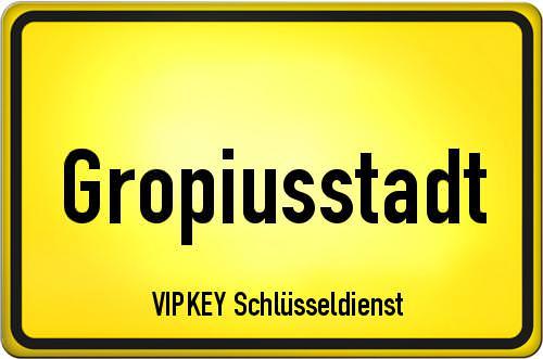 Ortseingangsschild Berlin - Gropiusstadt