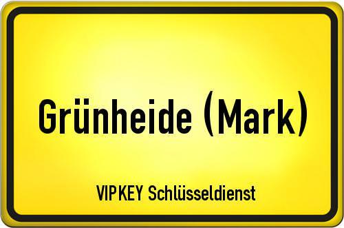 Ortseingangsschild Brandenburg - Grünheide (Mark)