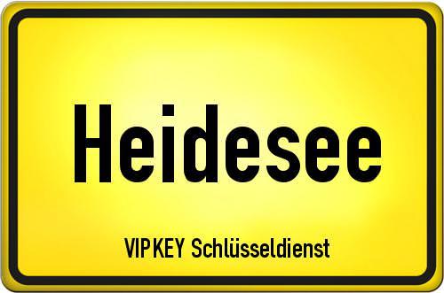 Ortseingangsschild Brandenburg - Heidesee