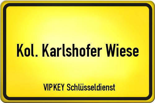 Ortseingangsschild Berlin - Kol. Karlshofer Wiese