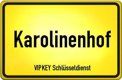 Ortseingangsschild Berlin - Karolinenhof