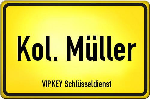 Ortseingangsschild Berlin - Kol. Müller
