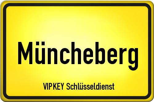 Ortseingangsschild Brandenburg - Müncheberg