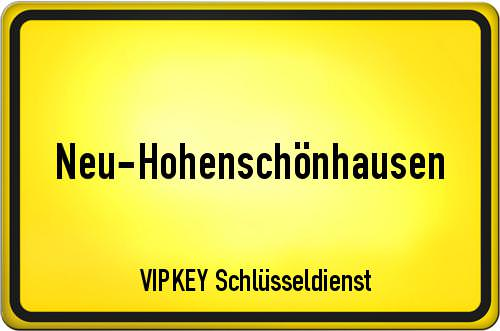 Ortseingangsschild Berlin - Neu-Hohenschönhausen