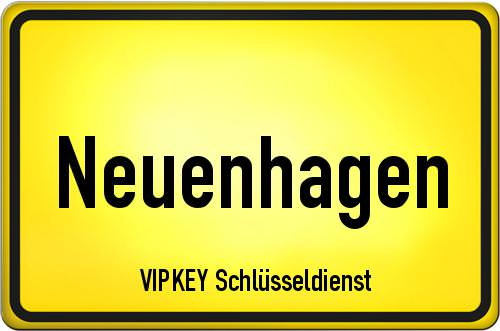 Ortseingangsschild Brandenburg - Neuenhagen