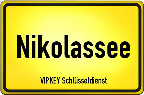 Ortseingangsschild Berlin - Nikolassee