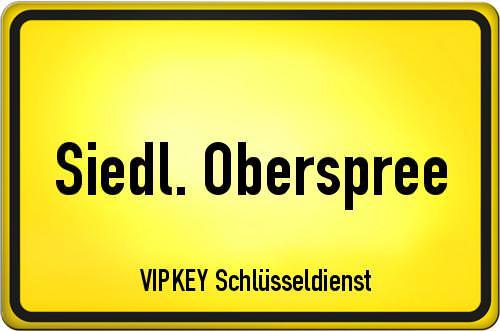Ortseingangsschild Berlin - Siedl. Oberspree