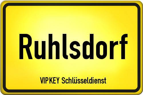 Ortseingangsschild Brandenburg - Ruhlsdorf