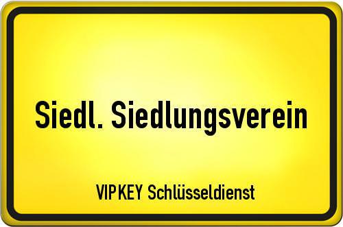 Ortseingangsschild Berlin - Siedl. Siedlungsverein
