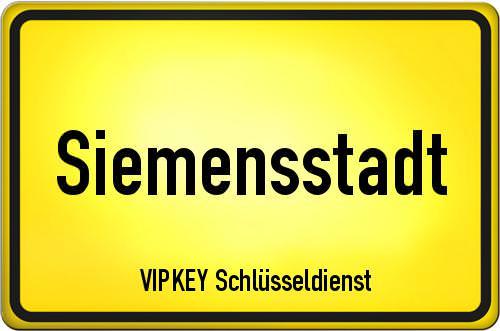 Ortseingangsschild Berlin - Siemensstadt