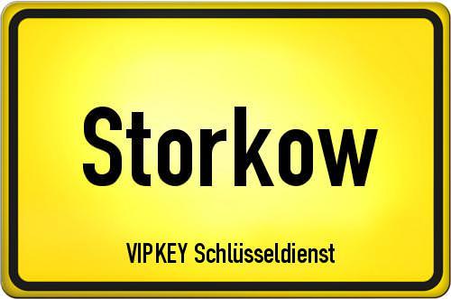 Ortseingangsschild Brandenburg - Storkow
