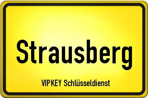 Ortseingangsschild Brandenburg - Strausberg