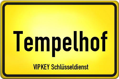 Ortseingangsschild Berlin - Tempelhof
