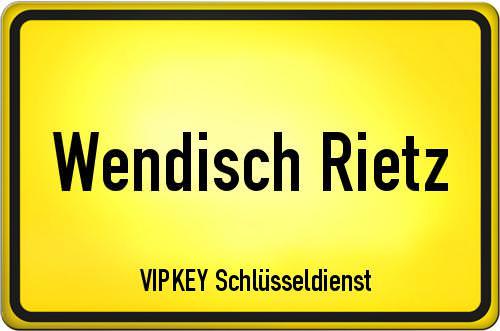 Ortseingangsschild Brandenburg - Wendisch Rietz