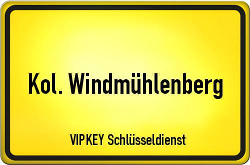 Ortseingangsschild Berlin - Kol. Windmühlenberg