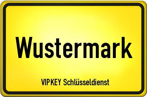 Ortseingangsschild Brandenburg - Wustermark