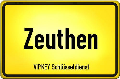 Ortseingangsschild Brandenburg - Zeuthen